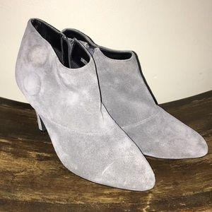 Gray suede booties by New Look - size 37